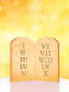 Ten commandments illustration of the tables of the Royalty Free Stock Photography
