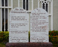 Ten commandments of mount carmel cathedral at saipan Royalty Free Stock Photography