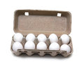 Ten eggs in pack Royalty Free Stock Photo