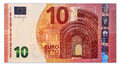 Ten euro banknote original photo part of new Royalty Free Stock Photography