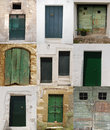 Ten Green Doors Stock Image