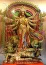 Ten handed Durga idol. Royalty Free Stock Photo