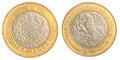 Ten mexican peso coin Royalty Free Stock Photo