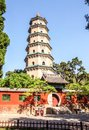 Ten party temple shifang temple and pagoda was built in the tang dynasty was built in the sui dynasty reconstructed Royalty Free Stock Images