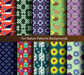 Title: Ten patterns nature holiday backgrounds.