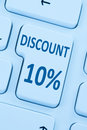 10% ten percent discount button coupon sale online shopping inte Royalty Free Stock Photo