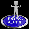 Ten Percent Off Button Shows 10  Off Product Stock Photography