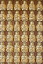 Ten thousand buddha on Chinese temple wall Royalty Free Stock Photo