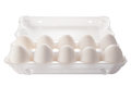 Ten White Eggs In Packing