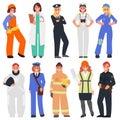 Ten women in the male professions