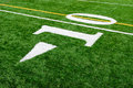 Ten Yard Line Royalty Free Stock Photo