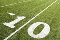 Ten yard line closeup of Royalty Free Stock Image