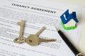 Tenancy agreement Royalty Free Stock Photo