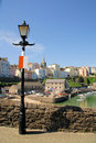 Tenby with Lamp Royalty Free Stock Image