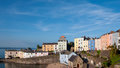 Tenby south wales uk harbour and colourful houses Royalty Free Stock Photo