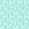 stock image of  Tender blue fern branches with leaves pattern