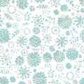 Tender graceful hand drawn fantasy evening flowers seamless pattern pastel tones vintage polka dot floral background Stock Image