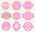Tender High Quality Labels Collection Royalty Free Stock Images