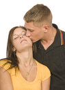 Tender Kiss Royalty Free Stock Photo