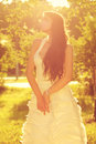 Tender romantic bride Stock Photos