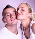 Tender young couple posing Royalty Free Stock Images