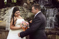 Tenderness of newlyweds Royalty Free Stock Photo