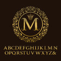 Tendrils Gold Letters With M I...