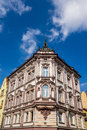 Tenement built in neo baroque architectural style cieszyn poland Stock Photo