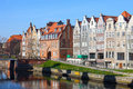 Tenement in gdansk houses on old town poland Royalty Free Stock Image