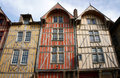 Tenement house in old town of troyes france Royalty Free Stock Photos