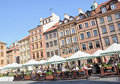 Tenement houses on Old Town in Warsaw, Poland Stock Photography