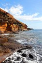 Tenerife coast canary islands spain beautiful sandstone of playa amarillo Stock Photography