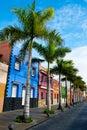 Tenerife. Colourful houses in Puerto de la Cruz Royalty Free Stock Photo