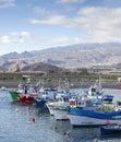 Tenerife fishing boats in Las Galletas Harbour