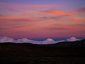 Tenerife gloaming in the caldera of teide national park Royalty Free Stock Photography