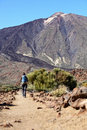 Tenerife, Teide walking Stock Images