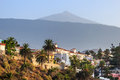 Tenerife and volcano in the background beautiful view canary islands Royalty Free Stock Photos