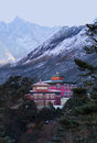 Tengboche monastery in Sagarmatha National Park, Nepal Himalaya Royalty Free Stock Photo