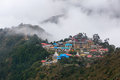 Tengboche village and monastery Royalty Free Stock Photo