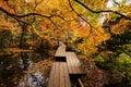 Tenju-an Temple with autumn garden, Kyoto Royalty Free Stock Photo