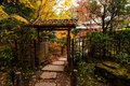 Tenju-an Temple with fall colors, Kyoto Royalty Free Stock Photo