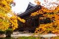 Tenjuan Temple at fall, Kyoto Royalty Free Stock Photo