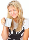 Tennage girl with cup Royalty Free Stock Photography