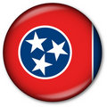 Tennessee State Flag Button Royalty Free Stock Photo