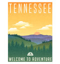 Tennessee, United States travel poster Royalty Free Stock Photo