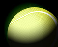 Tennis ball on black Stock Photo