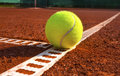 Tennis ball on a court Royalty Free Stock Images
