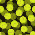 Tennis ball 3d seamless pattern. Sports accessory ornament. Tenn Royalty Free Stock Photo