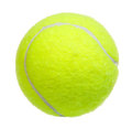Tennis ball isolated on white background Stock Photos