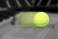 Tennis Ball Moving Royalty Free Stock Photo
